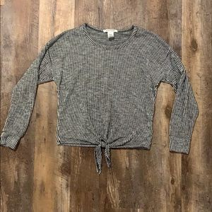 (Caution To The Wind) tie front sweater